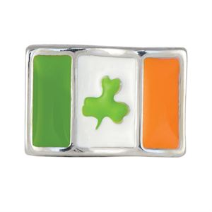 Picture of Irish Flag with Clover Charm
